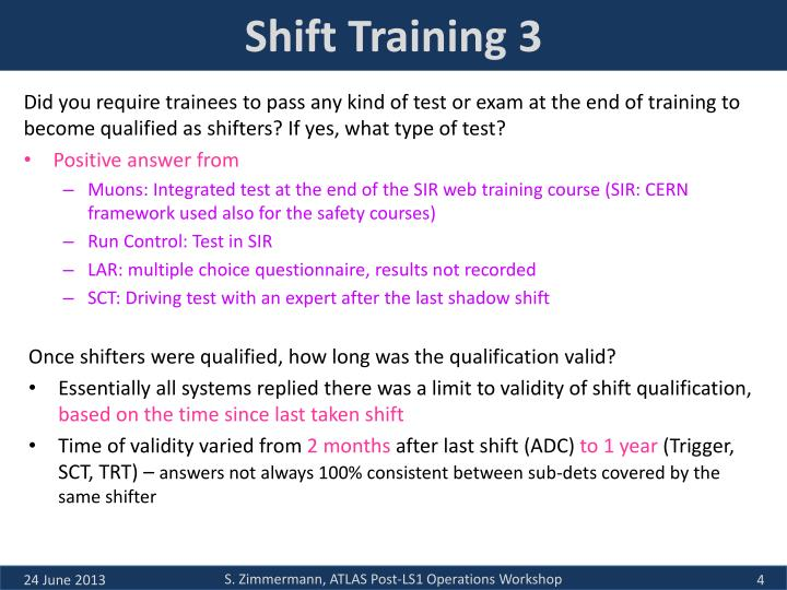 Shift Training 3