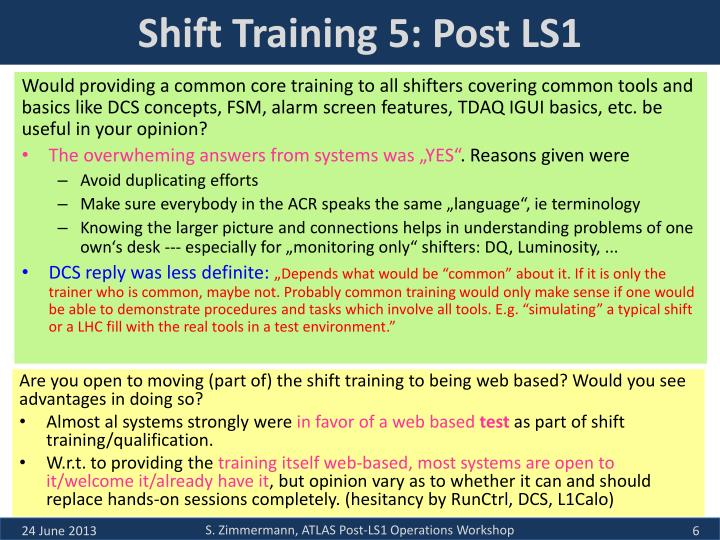 Shift Training 5: Post LS1