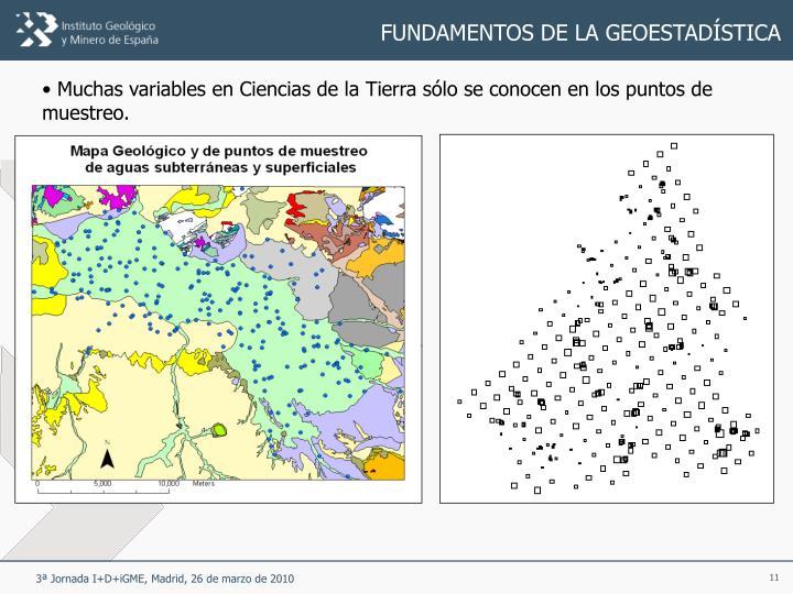 FUNDAMENTOS DE LA GEOESTADÍSTICA