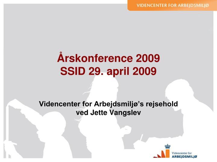 Årskonference 2009