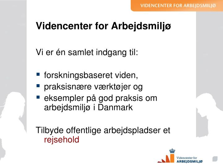 Videncenter for arbejdsmilj