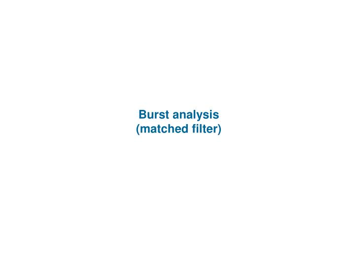 Burst analysis