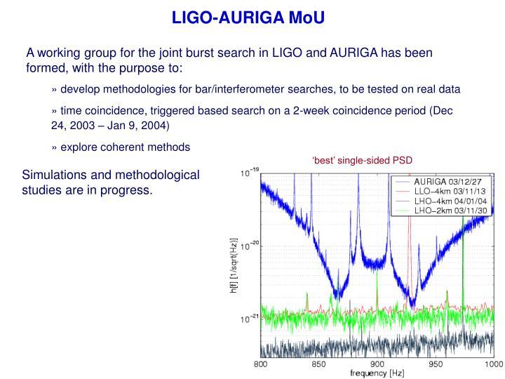 LIGO-AURIGA MoU