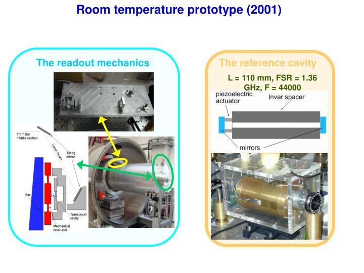 Room temperature prototype (2001)