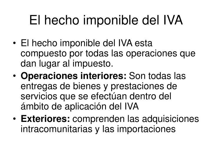 El hecho imponible del IVA