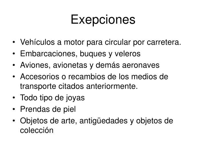 Exepciones