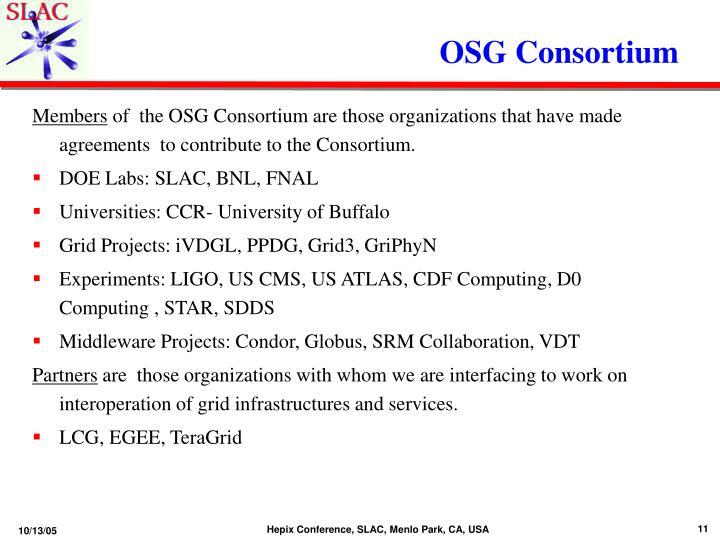 OSG Consortium