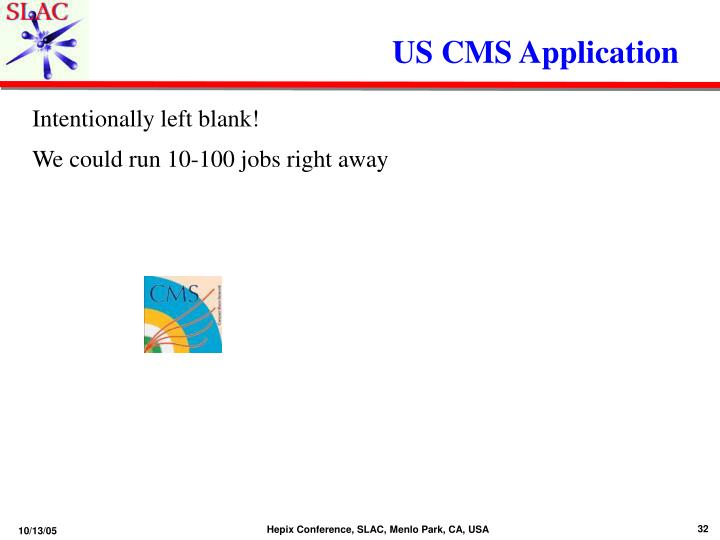 US CMS Application