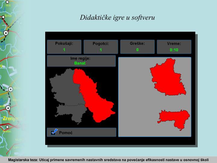Didaktičke igre u softveru