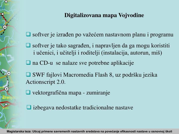 Digitalizovana mapa Vojvodine