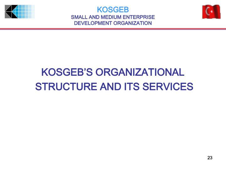 KOSGEB'S ORGANIZATIONAL