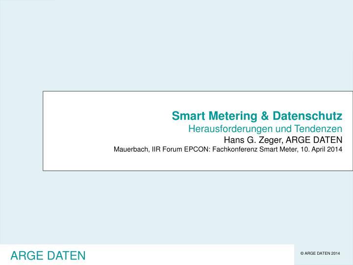 Smart Metering & Datenschutz