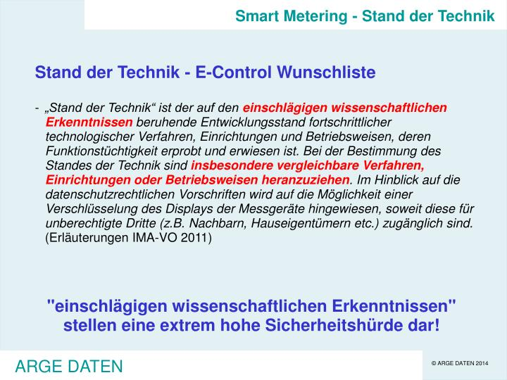 Smart Metering - Stand der Technik