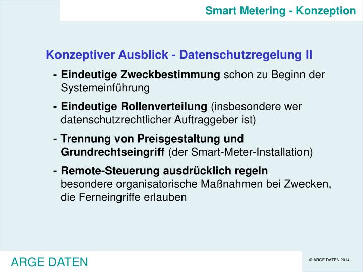 Smart Metering - Konzeption