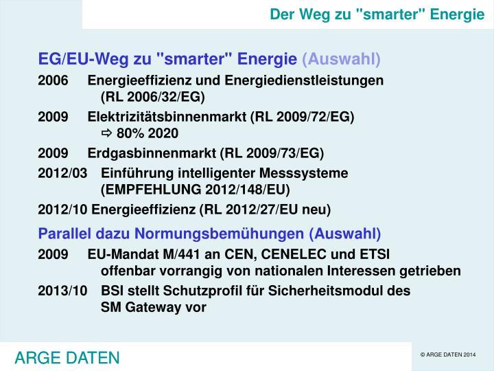 """Der Weg zu """"smarter"""" Energie"""
