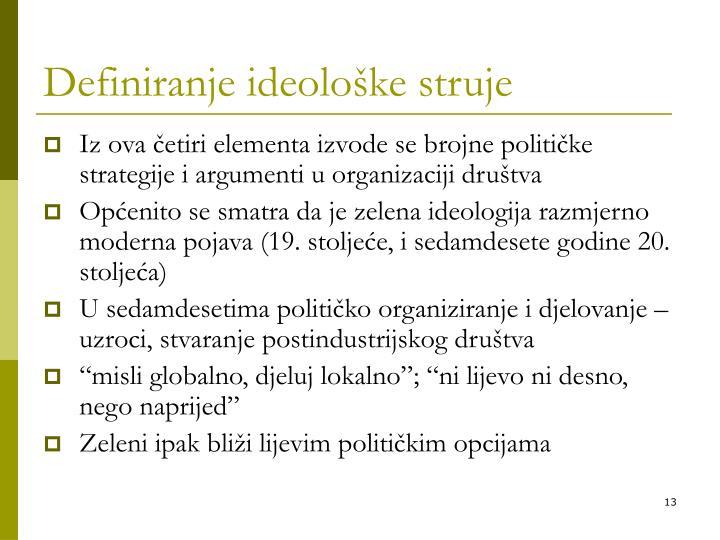 Definiranje ideološke struje