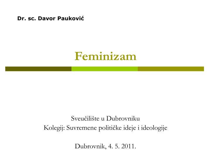 Dr. sc. Davor Pauković