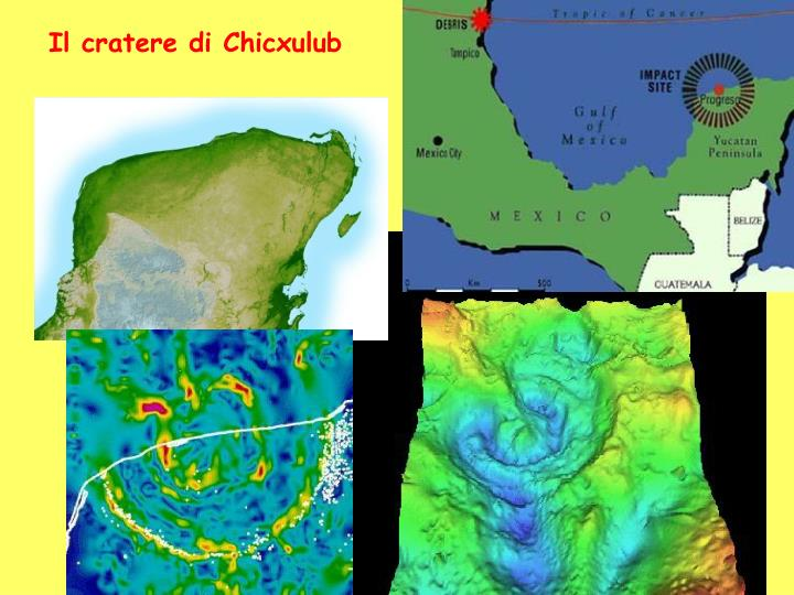 Il cratere di Chicxulub