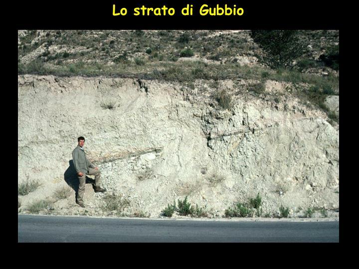 Lo strato di Gubbio