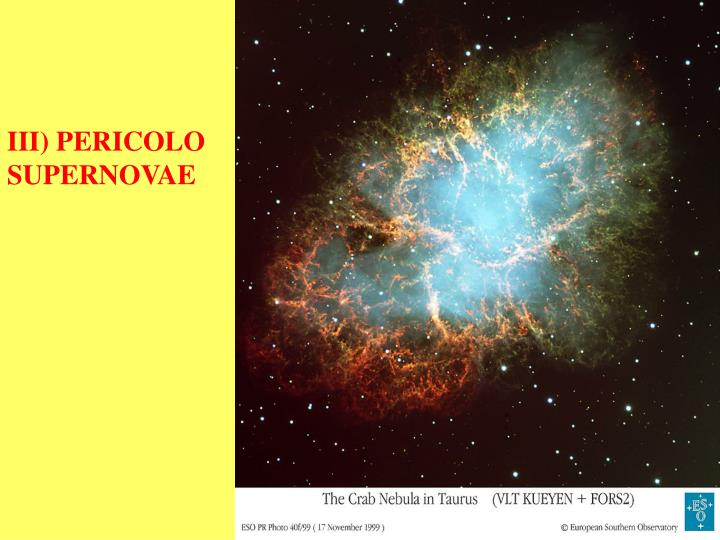 III) PERICOLO