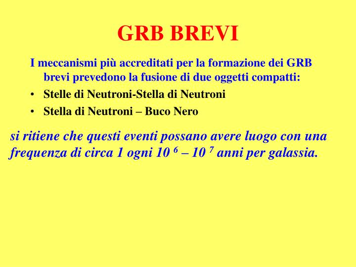 GRB BREVI