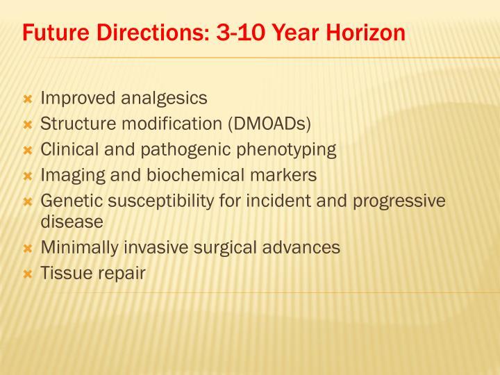 Future Directions: 3-10 Year Horizon