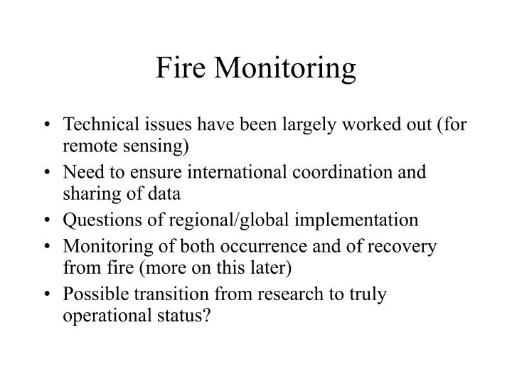 Fire Monitoring