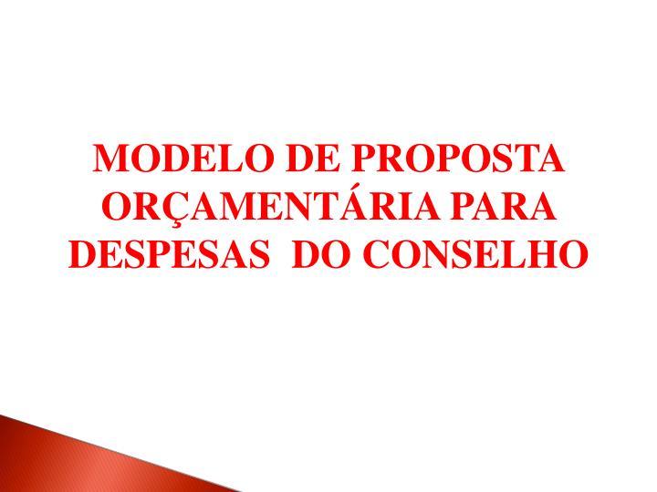 MODELO DE PROPOSTA