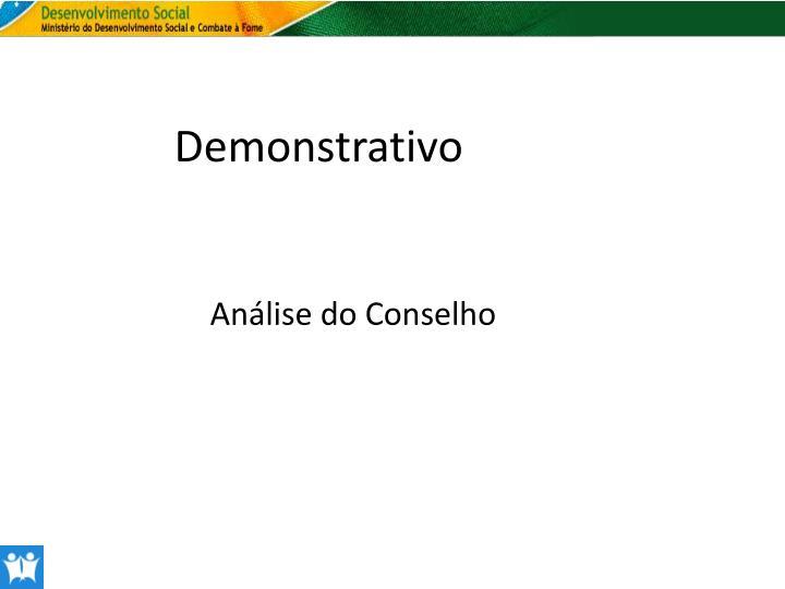 Demonstrativo