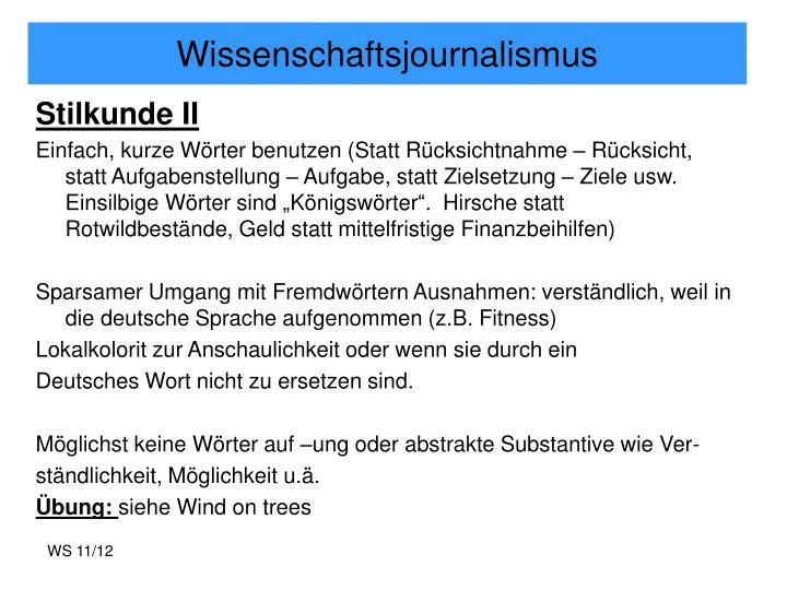 Wissenschaftsjournalismus