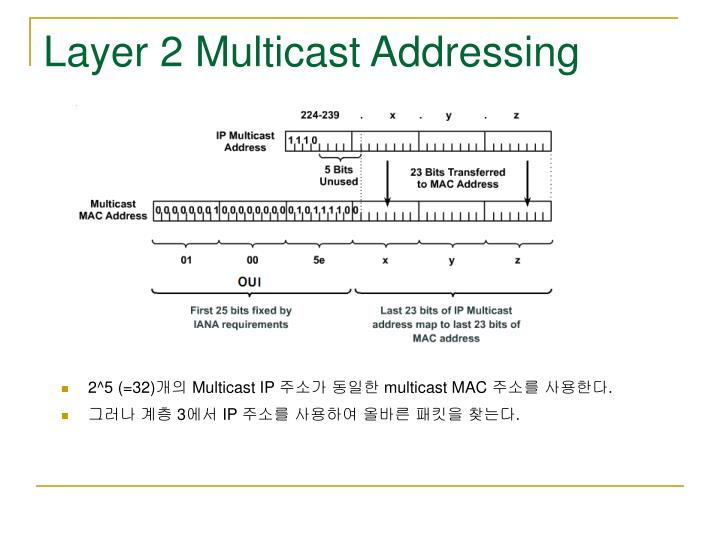 Layer 2 Multicast Addressing