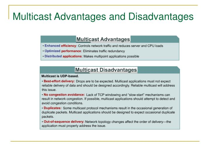 Multicast Advantages and Disadvantages