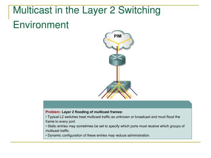 Multicast in the Layer 2 Switching Environment