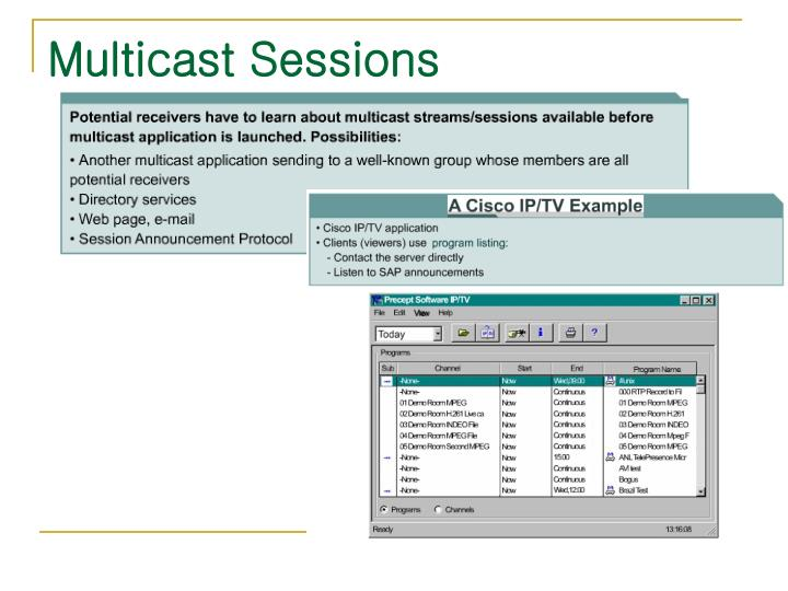 Multicast Sessions