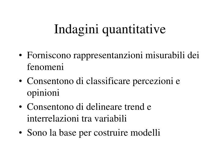 Indagini quantitative