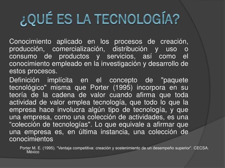 Qu es la Tecnologa?