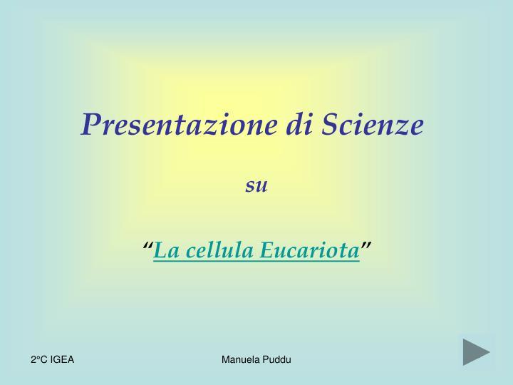 Presentazione di Scienze