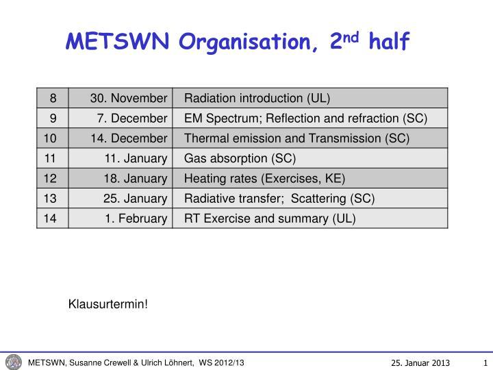 METSWN Organisation, 2