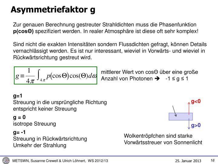 Asymmetriefaktor g