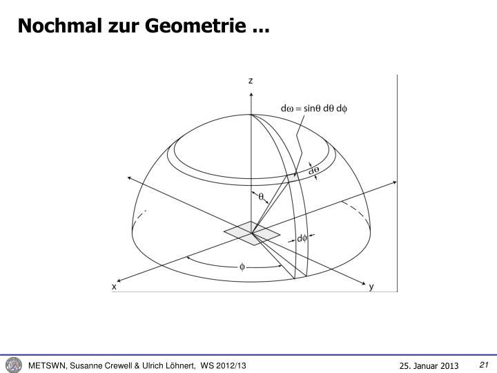 Nochmal zur Geometrie ...