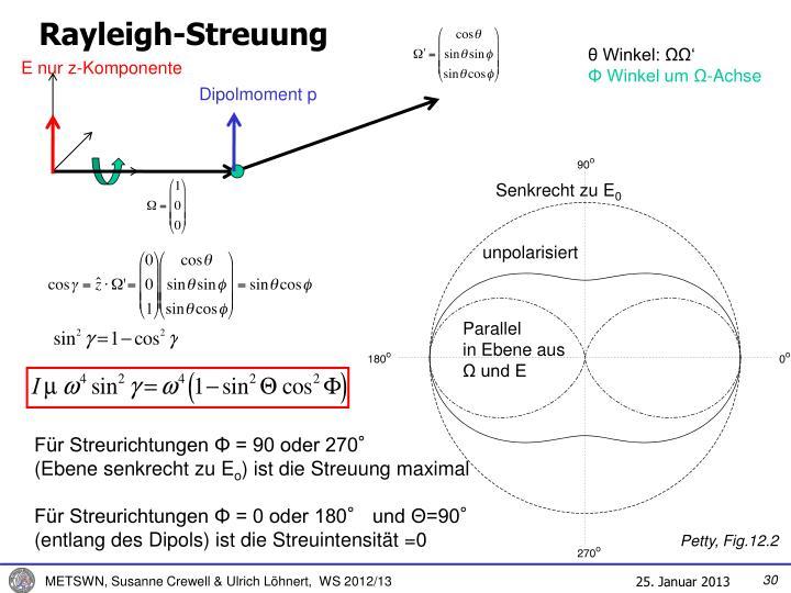 Rayleigh-Streuung