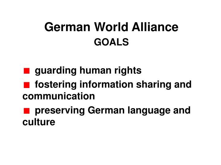 German World Alliance