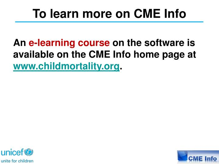 To learn more on CME Info