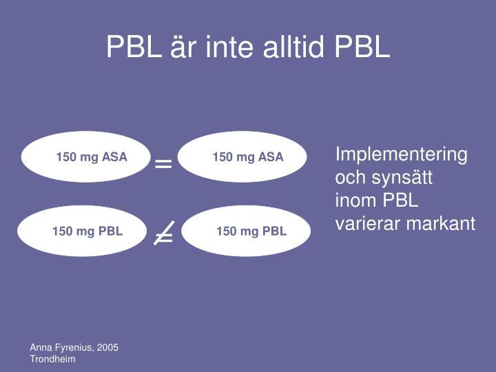 150 mg ASA