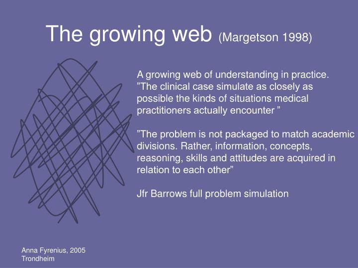 The growing web