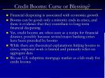 credit booms curse or blessing
