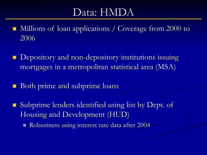 Data: HMDA
