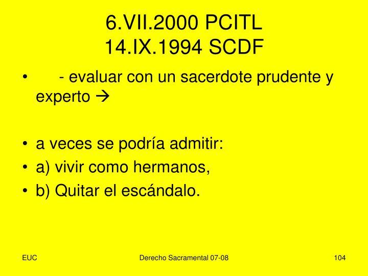 6.VII.2000 PCITL