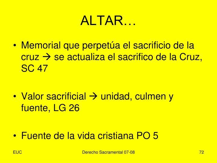 ALTAR…
