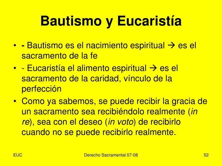Bautismo y Eucaristía